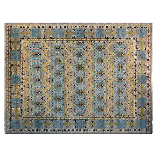 9'x12' Sia Sari Wool Rug, Gray
