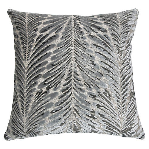 Frannie 22x22 Pillow, Ice Velvet