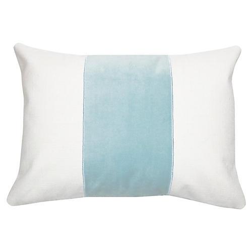 Cooper 14x20 Lumbar Pillow, Aqua Velvet