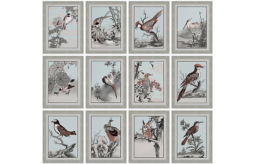 S/12 Japanese Birds