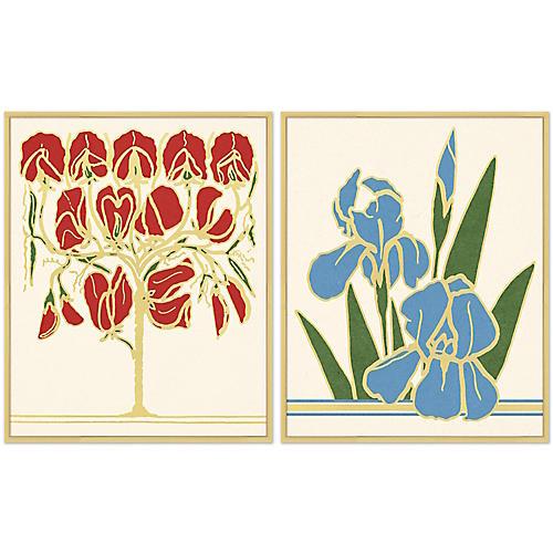 S/2 Retro Florals