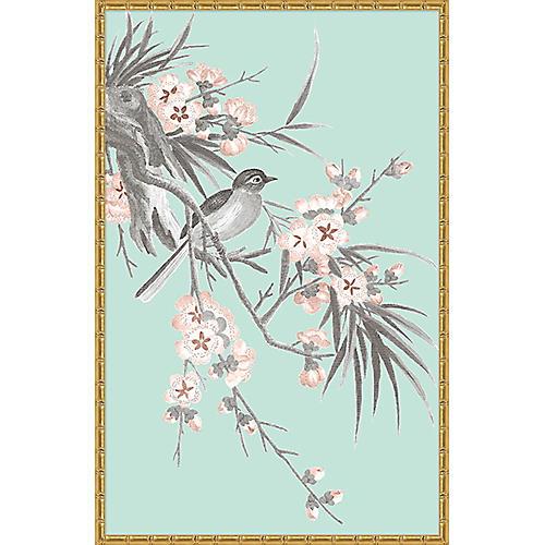 Blue & Gray Chinoiserie Birds II