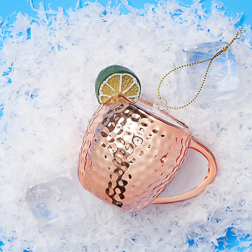 Moscow Mule Ornament, Copper/Lime