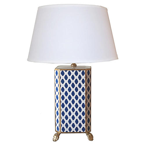 Parsi Table Lamp, Navy