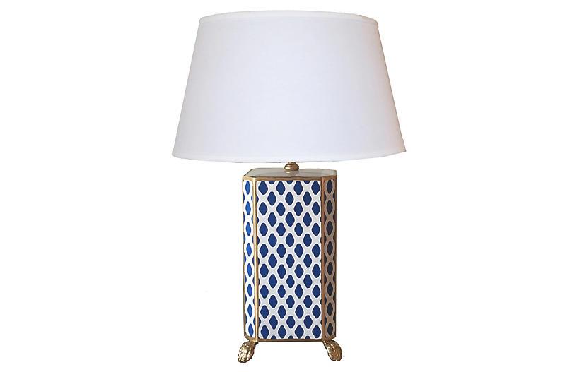 Table Lamp Navy Dana Gibson