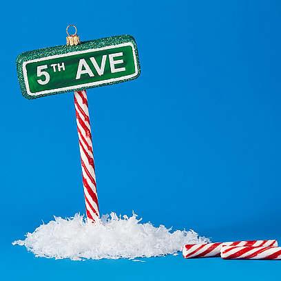 5th Avenue Ornament, Green