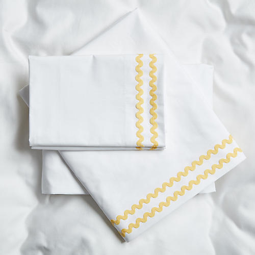 April Sheet Set, Yellow