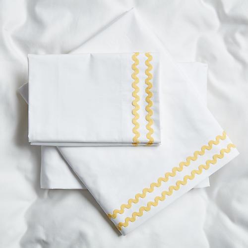 April Sheet Set, Yellow