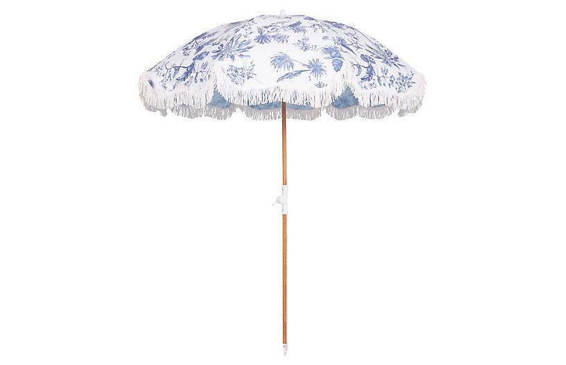 Elodie Holiday Beach Umbrella, Chinoiserie