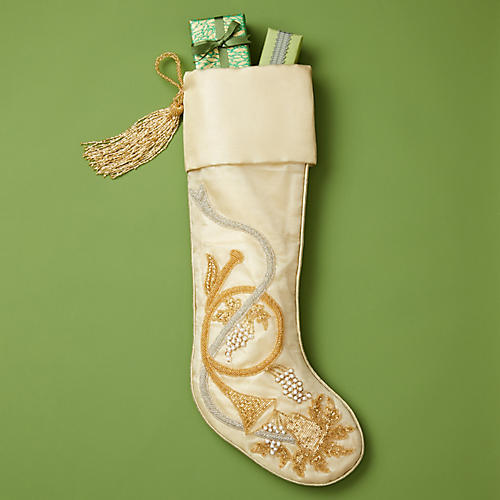 "23"" Trumpet Silk Stocking, Gold"