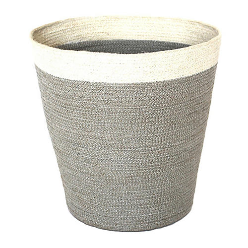 "14"" Merrion Basket, Silver Gray/White"