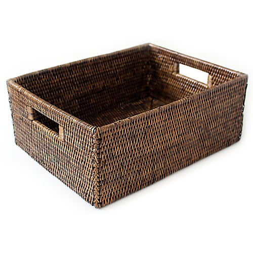 "16"" Clarke Everything Basket, Brown"