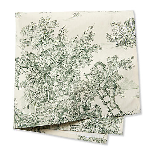 S/4 Campagne Napkins, Laurel Green