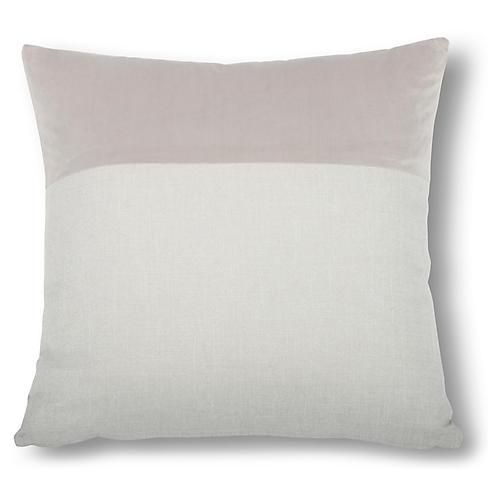 Diplos 22x22 Pillow, Dove/Steel