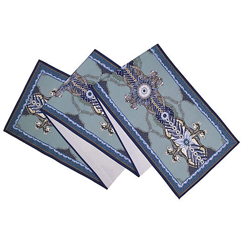 Bush Bandits Frost Table Runner, Blue/Multi