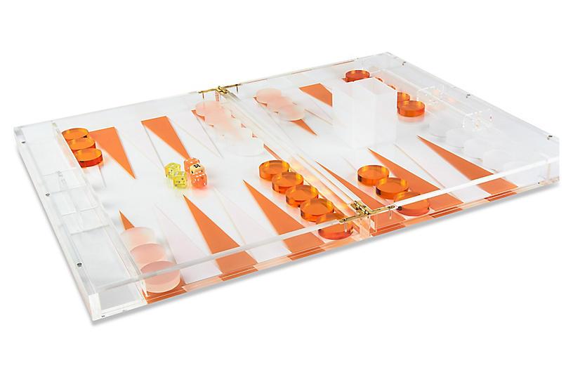 Barona Backgammon Set, Orange