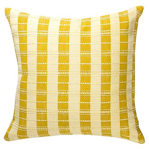 Santiago 18x18 Stripe Pillow, Butter