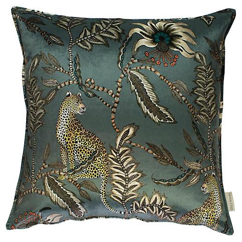 Monkey Bean 24x24 Pillow, Ash Velvet