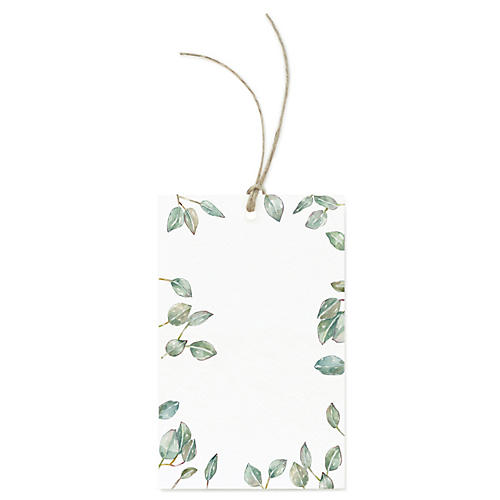 S/12 Leaves Gift Tags