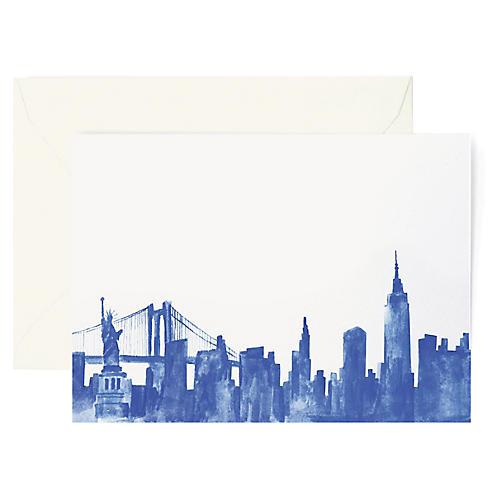 S/8 New York Skyline Greeting Cards