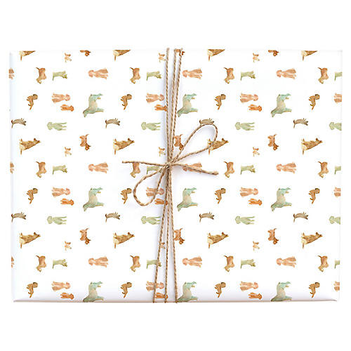 S/3 Dog Wash Gift Wrap