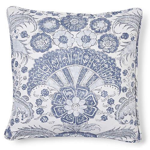 Calicut 20x20 Pillow, Delft Linen