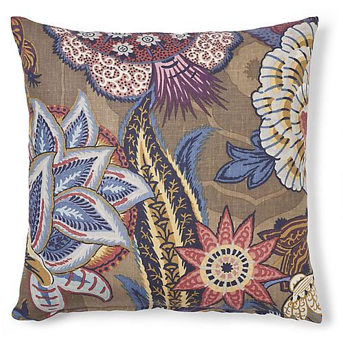Zanzibar 20x20 Pillow, Cerulean/Multi Linen