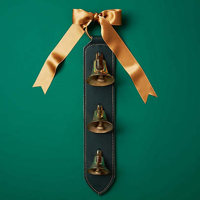 Lancaster Door Bells, Green/Brass