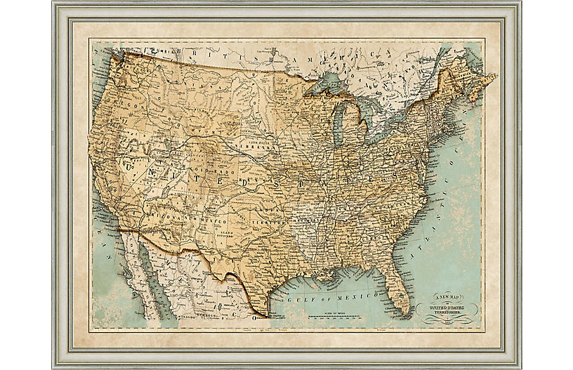 1866 Map of the USA