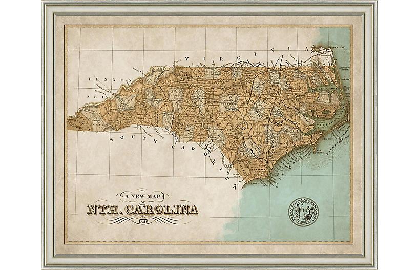 1846 Map of North Carolina