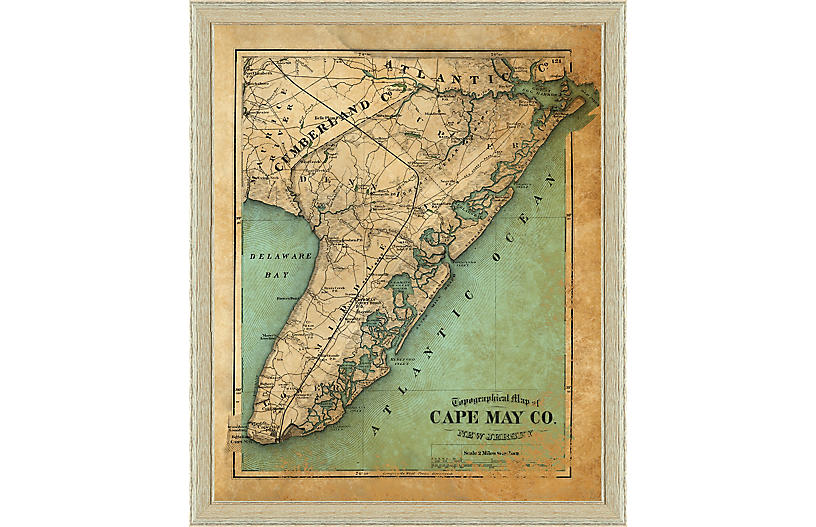 1875 Map of Cape May County, NJ