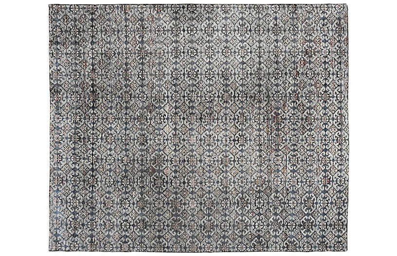 Stormie Hand-Knotted Rug, Ochre