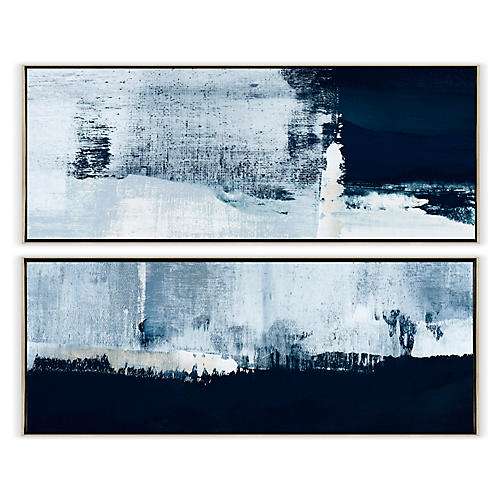 Carol Benson-Cobb, Constructed Blues Diptych