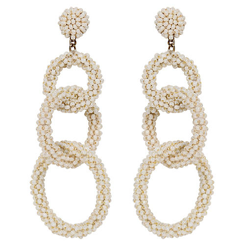 Deepa By Deepa Gurnani Ember Earrings, Pearl