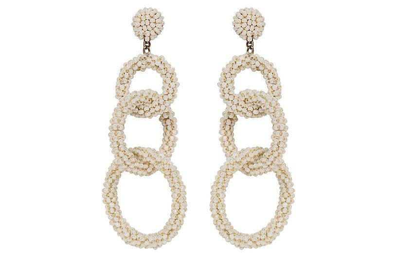 Deepa By Deepa Gurnani Ember Earrings, Pearl