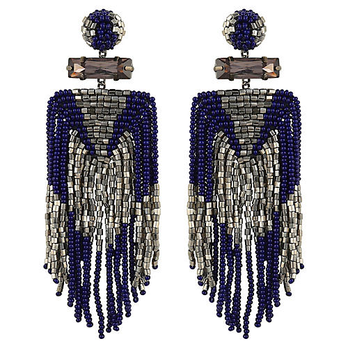 Deepa by Deepa Gurnani Jody Earrings, Navy