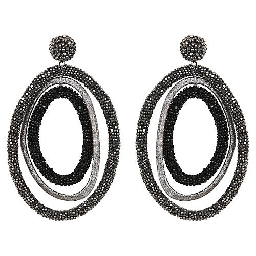 Bethanie Earrings, Gunmetal