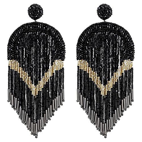 Hasfa Earrings, Black
