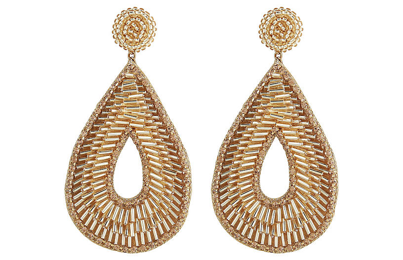 Deepa by Deepa Gurnani Abia Earrings, Gold