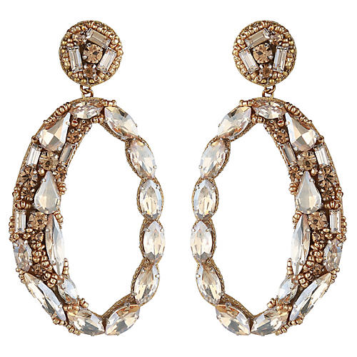 Deepa by Deepa Gurnani Freida Earrings, Gold