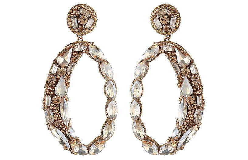 Deepa by Deepa Gurnani Freida Earrings, Gold