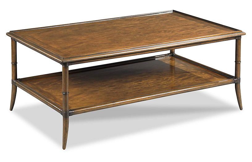 Roanne Rectangular Coffee Table, Hazelnut