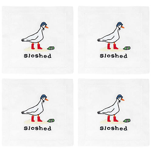 S/4 Sloshed Cocktail Napkins