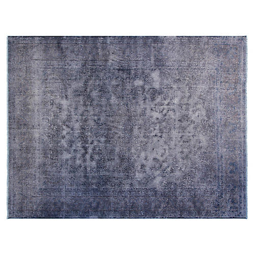 "8'6""x11'6"" Jaque Hand-Knotted Rug, Charcoal"