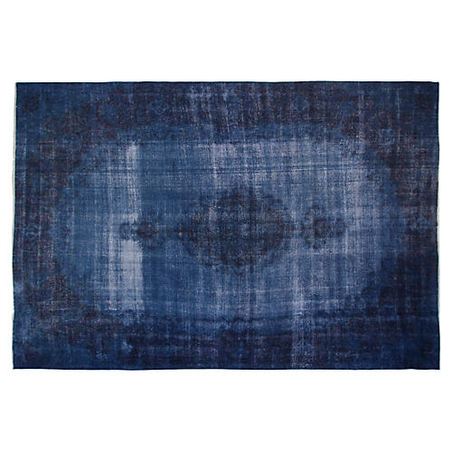 "17'x10'6"" Alyssa Hand-Knotted Rug, Blue"