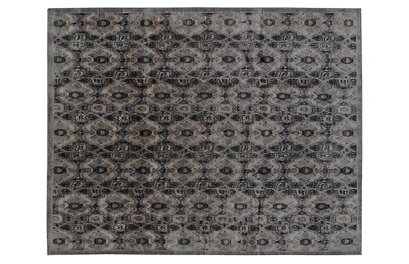 Silva Hand-Knotted Rug, Gray/Multi