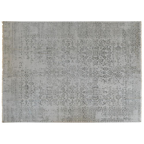 Katayun Hand-Knotted Rug, Gray/Black