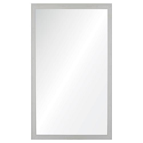 Bambu Wall Mirror, White Lacquer