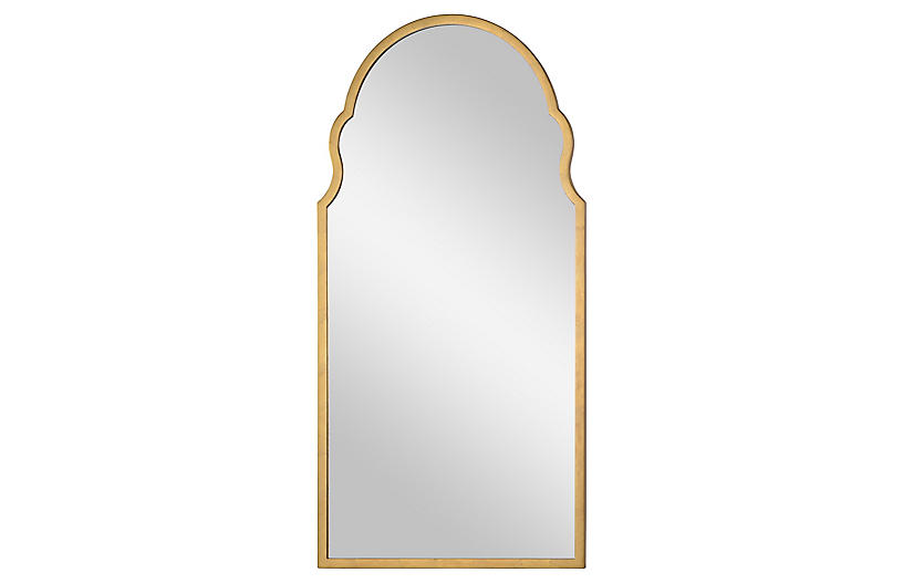 Anna Wall Mirror, Distressed Gold Leaf