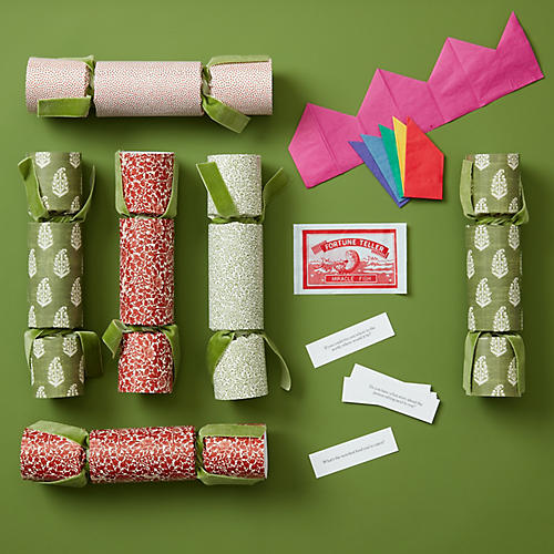 S/6 Party Crackers, Red/Green
